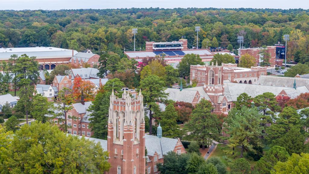 Aerial image of campus.
