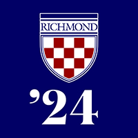 Class of 2024 Profile Pic: Shield on Blue Background
