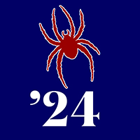 Class of 2024 Profile Pic: Spider on Blue Background