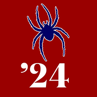Class of 2024 Profile Pic: Spider on Red Background