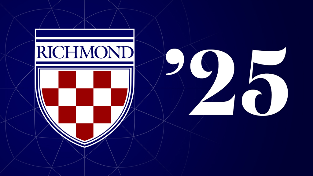 Class of 2024 Zoom Background: Shield on Blue Background