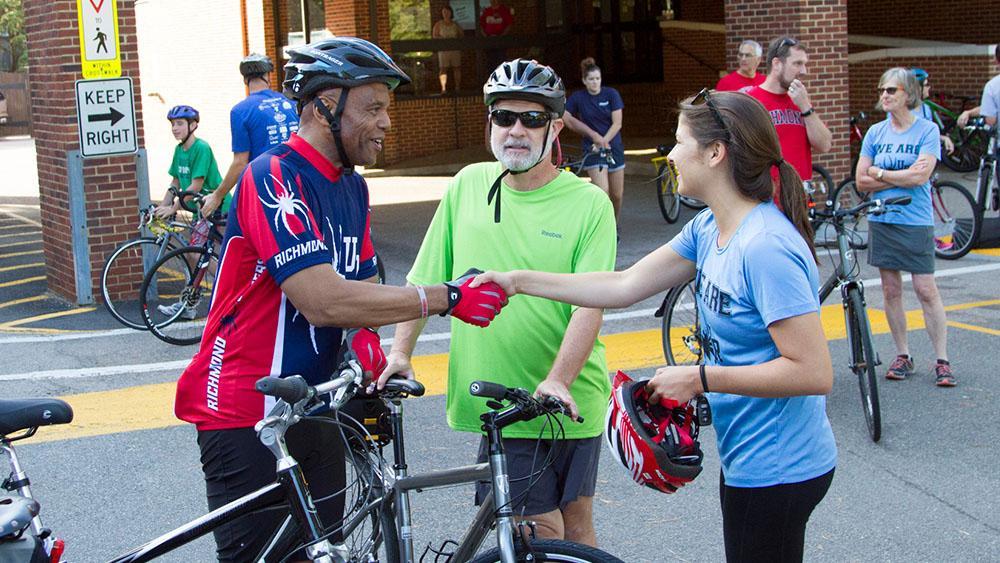 University Of Richmond Hosts President S Bike And Breakfast