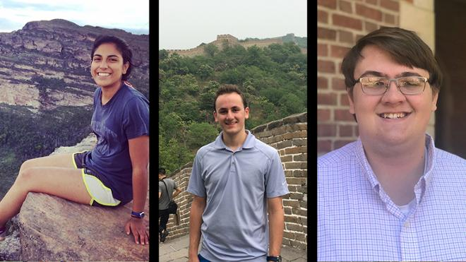 3 Students receive prized State Dept. language scholarships