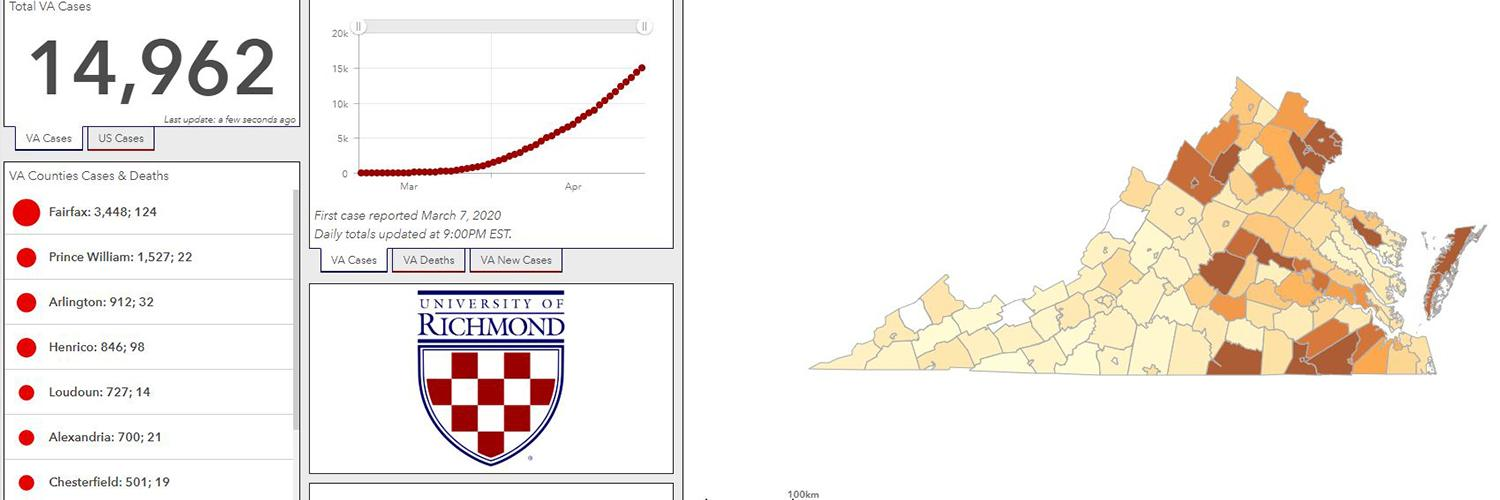 Department of Geography creates open access COVID-19 digital dashboard using GIS technology