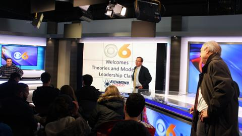 Jepson students visit CBS6 news station Students in Dr  Al