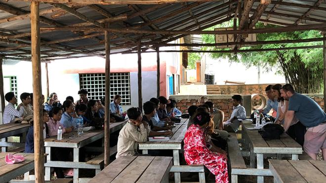 Bob Spires teaching in Cambodia