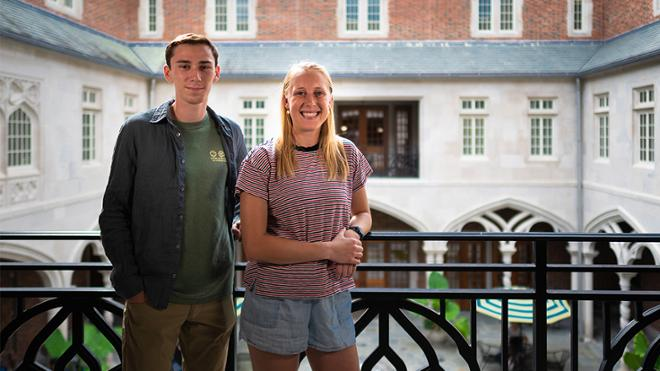 Colby Prokop, '19, and Andrew Reeder, '19