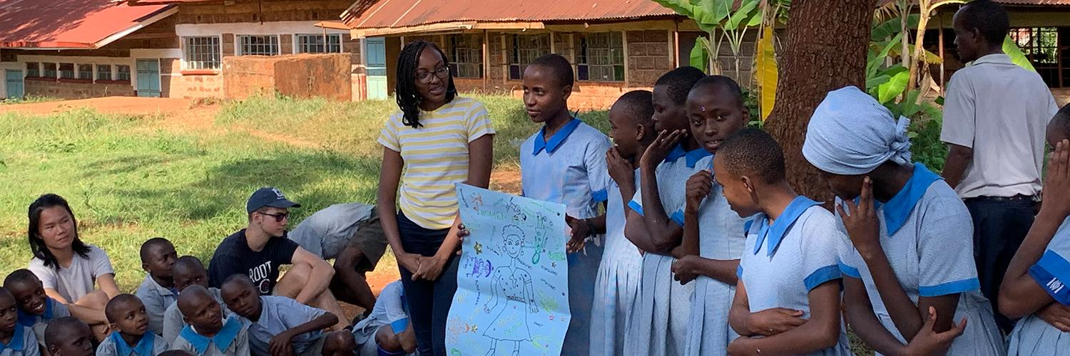 Junior Receives Projects for Peace Grant to Support Women's Reproductive Health Education in Kenya