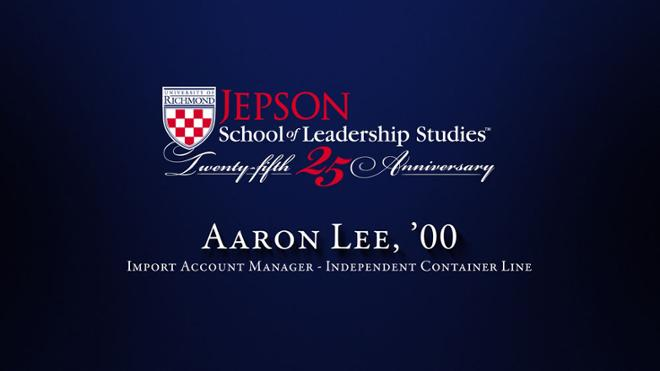 Aaron Lee, '00 - Import Account Manager, Independent Container Line
