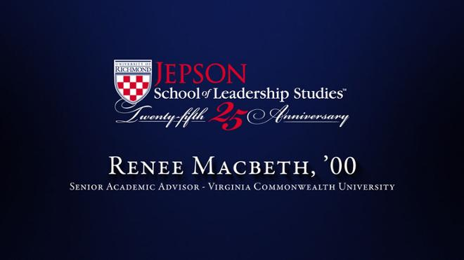 Renee Macbeth, '00 - Senior Academic Advisor, Virginia Commonwealth University