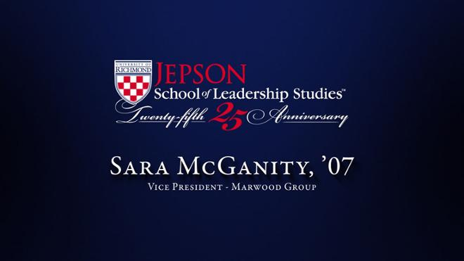 Sara McGanity, '07 - Vice President, Marwood Group