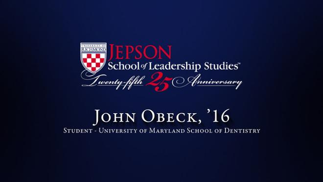 John Obeck, '16 - Student, University of Maryland School of Dentistry