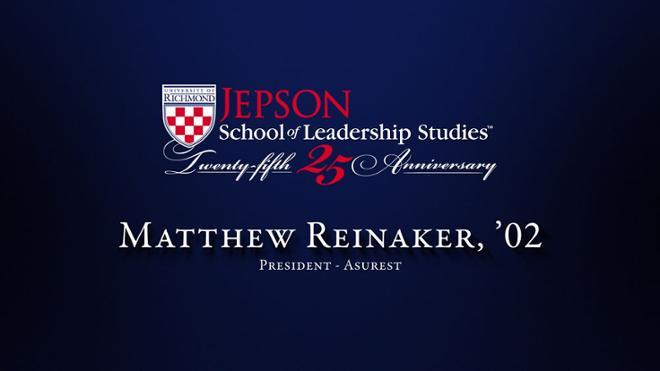 Matthew Reinaker, '02 - President, Asurest