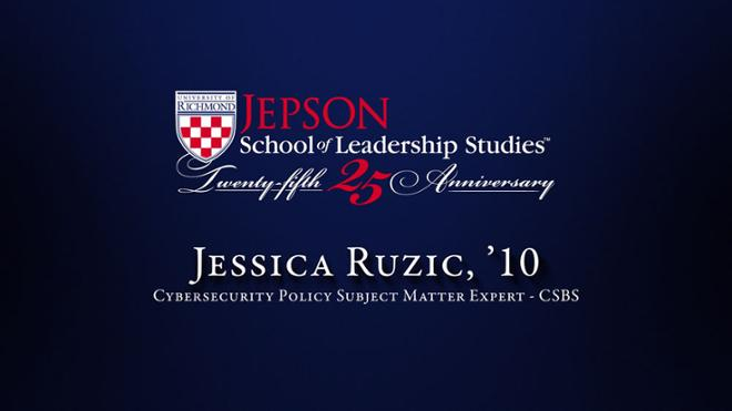 Jessica Ruzic, '10 - Cybersecurity Policy Subject Matter Expert, CSBS