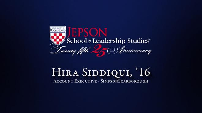 Hira Siddiqui, '16 - Account Executive, SimpsonScarborough