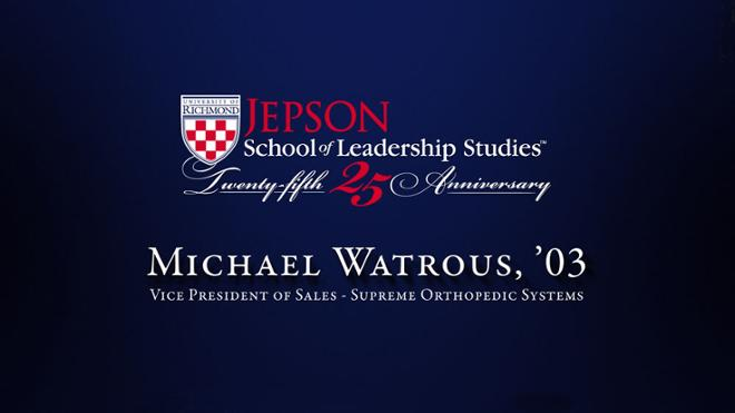Michael Watrous, '03 - Vice President of Sales, Supreme Orthopedic Systems