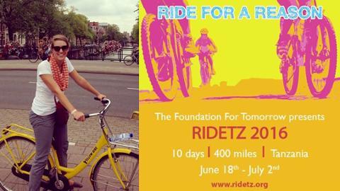 Alum bikes for a cause Recent grad raises funds through