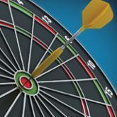 Dart in the bullseye of a dart board