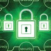 Illustrated padlocks in green