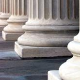 Bases of a row of structural columns