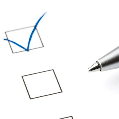 Checkmark in ballot box