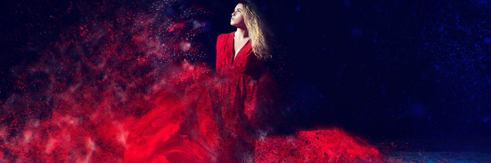 woman in red dress header image