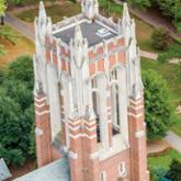 Library tower photo taken from above