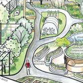 Drawing of permaculture design proposal