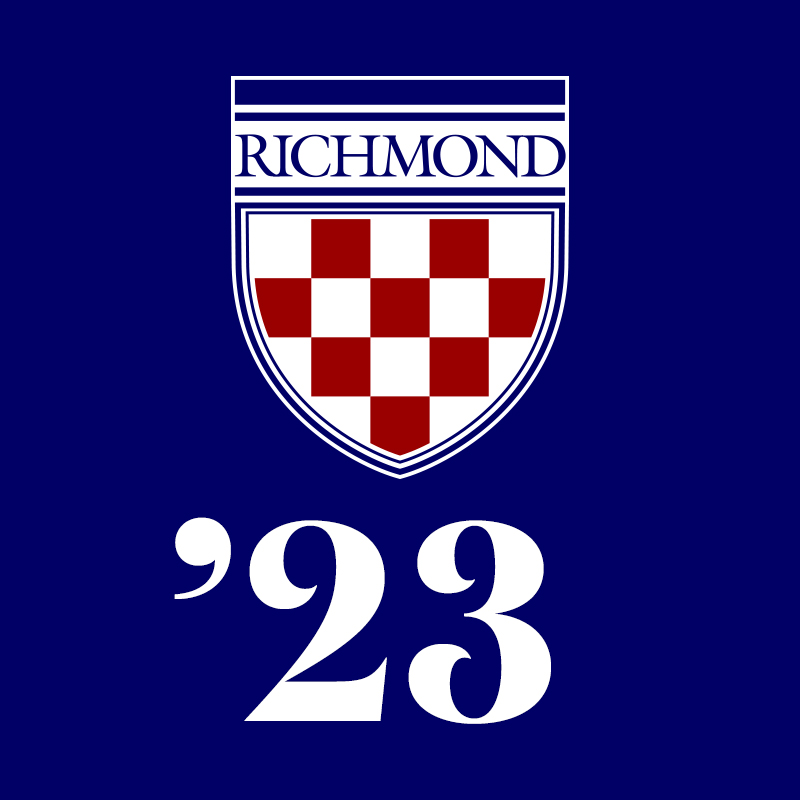Class of 2023 Profile Pic: Shield on Blue Background