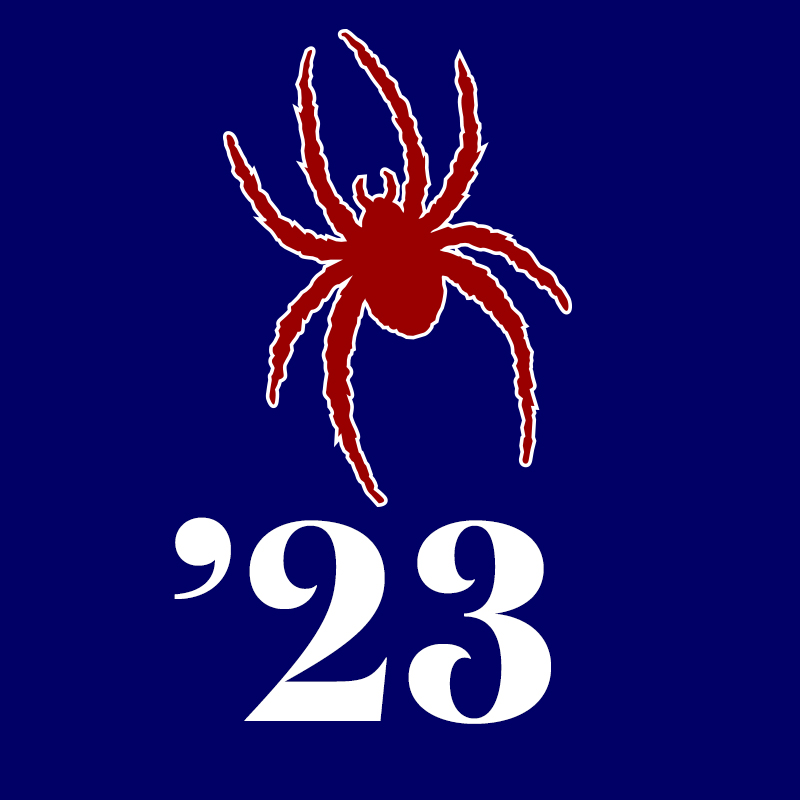Class of 2023 Profile Pic: Spider on Blue Background