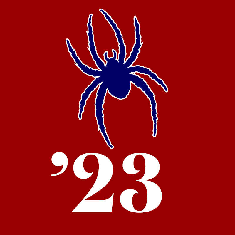 Class of 2023 Profile Pic: Spider on Red Background