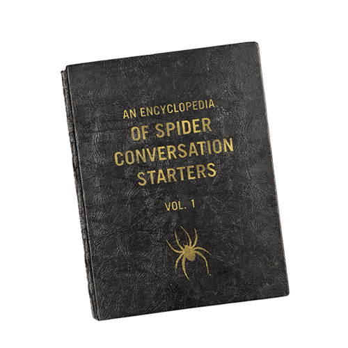 An Encyclopedia of Spider Conversation Starters hard cover