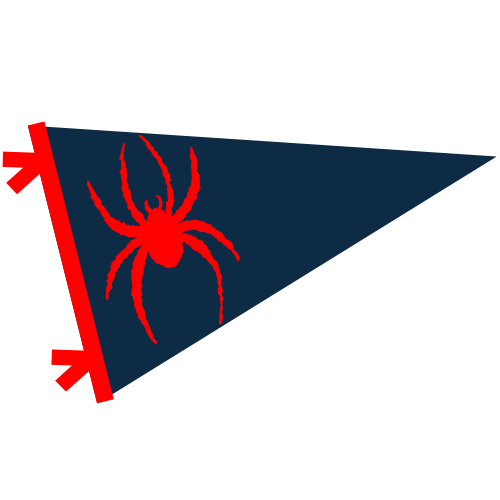 Spider Pride pennant logo