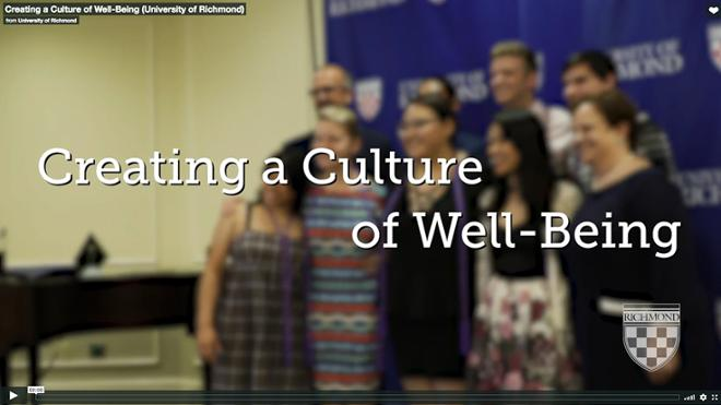 Watch: Creating a Culture of Well-Being